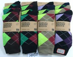 Mens suit 3 pair causal wear socks assorted colour dress socks